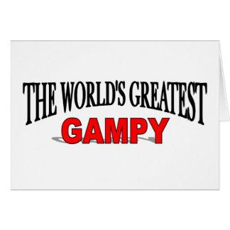 El Gampy más grande del mundo Tarjeta De Felicitación