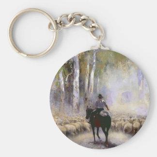 El ganadero llavero redondo tipo pin