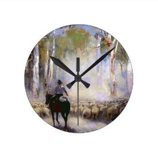 El ganadero reloj redondo mediano