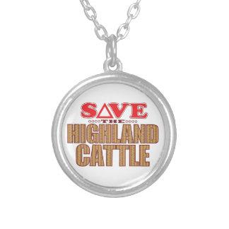 El ganado de la montaña ahorra colgante redondo