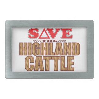 El ganado de la montaña ahorra hebillas de cinturon rectangulares