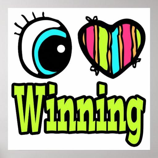 El ganar brillante del amor del corazón I del ojo Póster