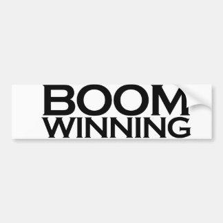 El ganar del auge etiqueta de parachoque