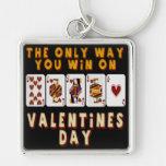 El ganar el el día de San Valentín Llavero