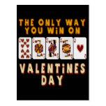 El ganar el el día de San Valentín Postal