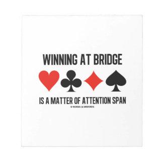 El ganar en el puente es una cuestión de capacidad blocs de notas