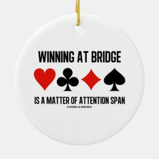 El ganar en el puente es una cuestión de capacidad ornamentos de navidad