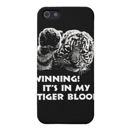 ¡El ganar!  ¡Está en mi sangre del tigre! iPhone 5 Protector