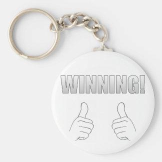 ¡El ganar! Llavero Redondo Tipo Pin