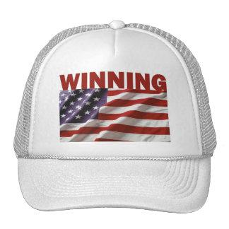 El ganar - los Estados Unidos de América Gorras De Camionero