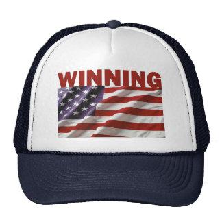 El ganar - los Estados Unidos de América Gorros Bordados