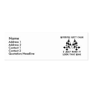 El ganar no es fácil - perfil del motocrós de la tarjetas de visita mini