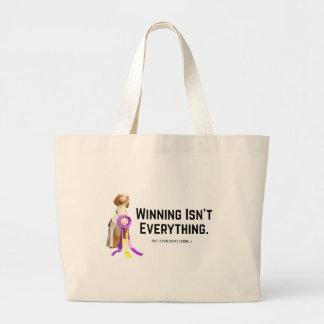 El ganar no es todo bolsa tela grande