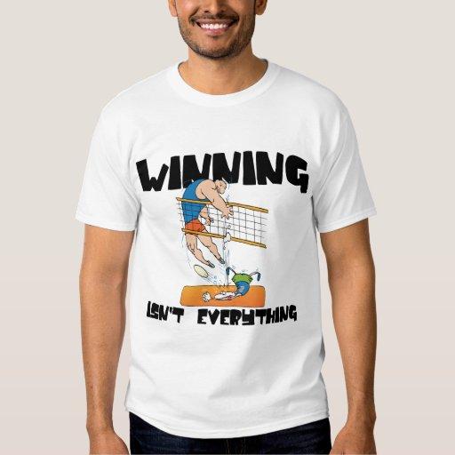 El ganar no es todo camiseta del voleibol camisas