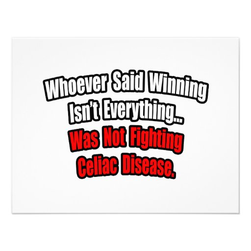 El ganar no es todo cita, enfermedad celiaca anuncio