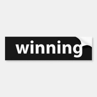 ¡El ganar! Pegatina Para Auto