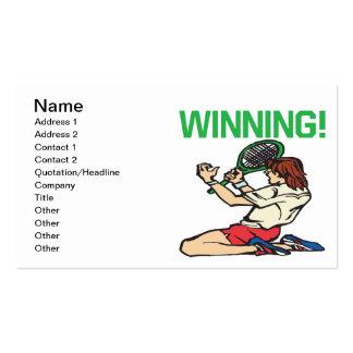 El ganar tarjetas de visita