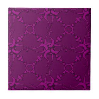 El gancho y coloca 1 - púrpura azulejo cuadrado pequeño
