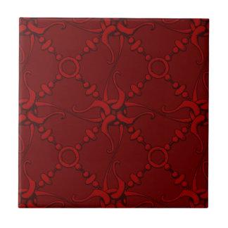 El gancho y coloca 1 - rojo azulejo cuadrado pequeño