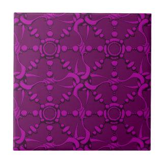 El gancho y coloca 2 - púrpura azulejo cuadrado pequeño