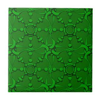 El gancho y coloca 2 - verde azulejo cuadrado pequeño