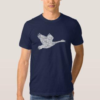 El ganso canadiense se descoloró camiseta polera