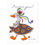 El ganso sale arte popular ucraniano postales