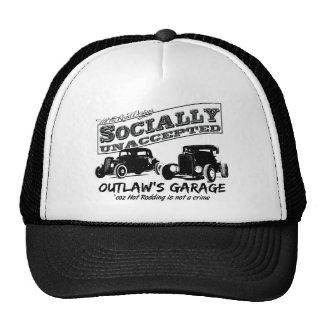 El garaje del proscrito. Coches de carreras social Gorras De Camionero