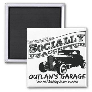 El garaje del proscrito. Coches de carreras social Imanes De Nevera