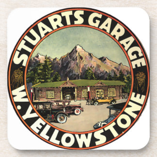 El garaje Yellowstone de Estuardo Posavasos De Bebidas