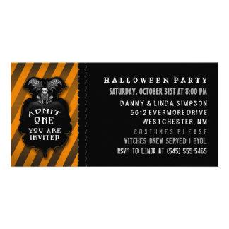 El Gargoyle del fiesta de Halloween admite una Tarjetas Fotograficas Personalizadas