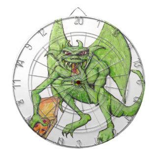 El Gargoyle verde come la pizza