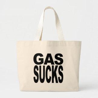El gas chupa bolsa tela grande