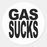 El gas chupa pegatina redonda