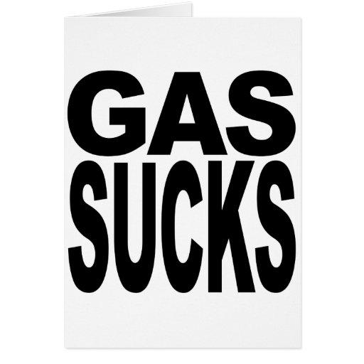 El gas chupa tarjetas