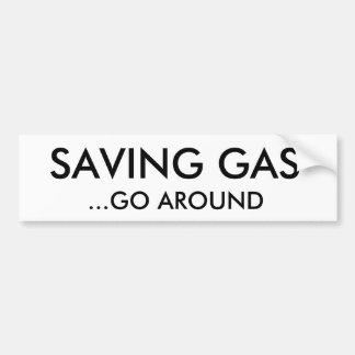 EL GAS DEL AHORRO,… CIRCUNDA ETIQUETA DE PARACHOQUE