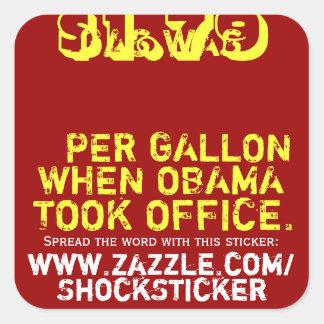 El gas era $1,79 por galón cuando Obama tomó la Pegatina Cuadrada