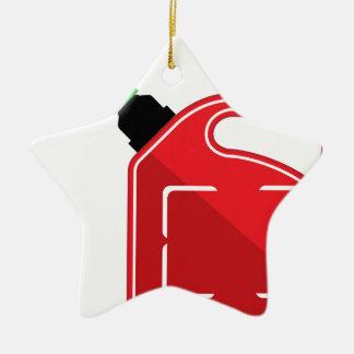 El gas puede adorno navideño de cerámica en forma de estrella