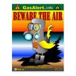 El gas puede canario en el juego de HazMat Postales