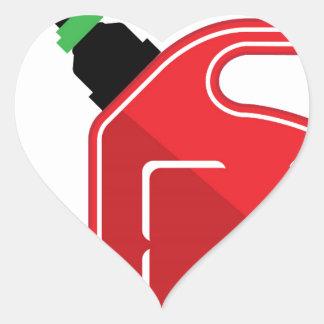 El gas puede pegatina en forma de corazón
