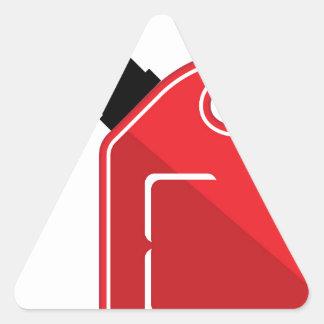 El gas puede pegatina triangular