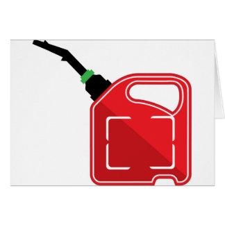 El gas puede tarjeta de felicitación