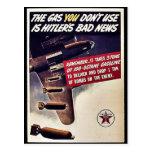 El gas que usted no utiliza es las malas noticias  postales
