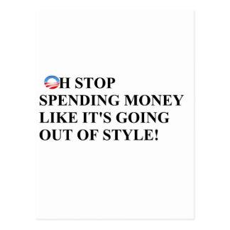 El gasto de la parada como el dinero es salida del postales