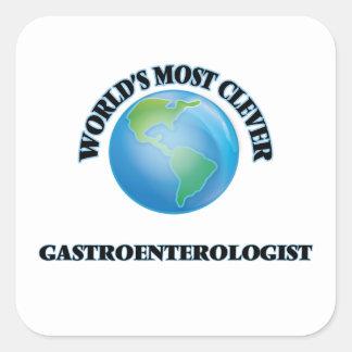 El gastroenterólogo más listo del mundo pegatina cuadrada