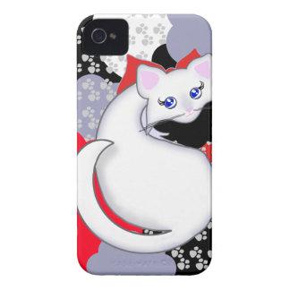 El gatito de Bianca Toon curva la caja de la Case-Mate iPhone 4 Protectores