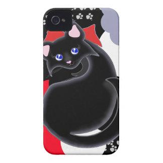 El gatito de Kiara Toon curva la caja de la iPhone 4 Case-Mate Cobertura