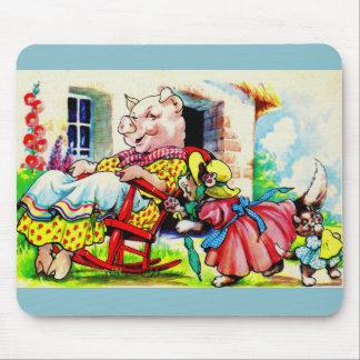 el gatito de la mamá de los años 30 y el gatito mouse pads