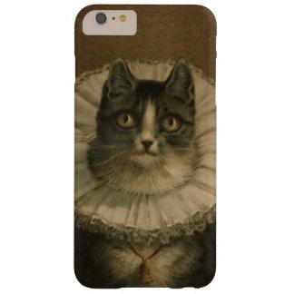 El gatito de la pintura del gato del vintage de la funda de iPhone 6 plus barely there