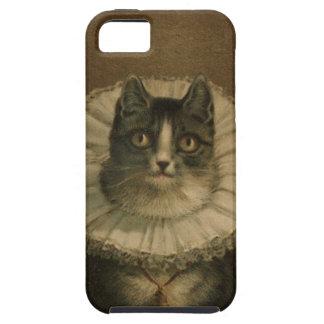 El gatito de la pintura del gato del vintage de la iPhone 5 protector